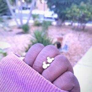 Rose Gold Mickey Stud Earrings